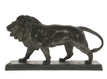 Antoine-Louis Barye (French, 1795-1875) - Lion Qui