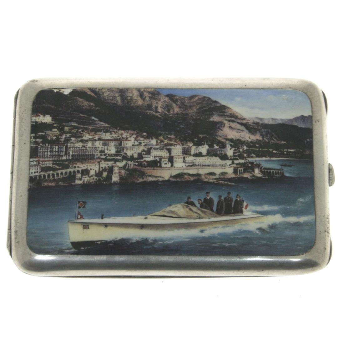 Silver and Enamel Cigarette Case, Germany, Early 20th
