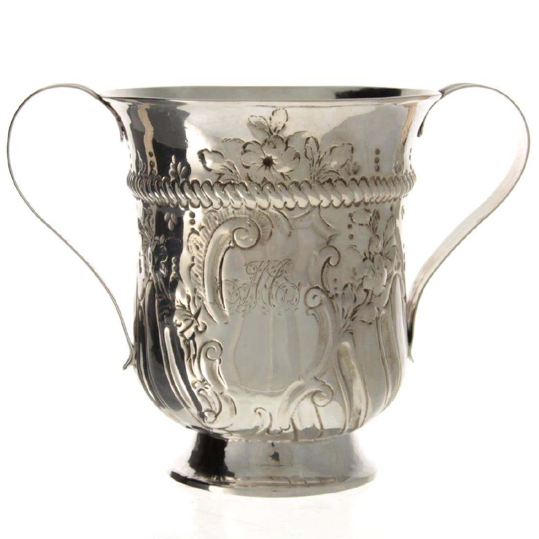 Early George III Sterling Silver Two Handled Trophy, - 3