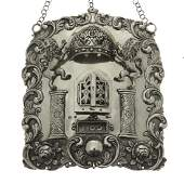 Abraham Reiner Silver Torah Shield TAS, Warsaw, 1876.