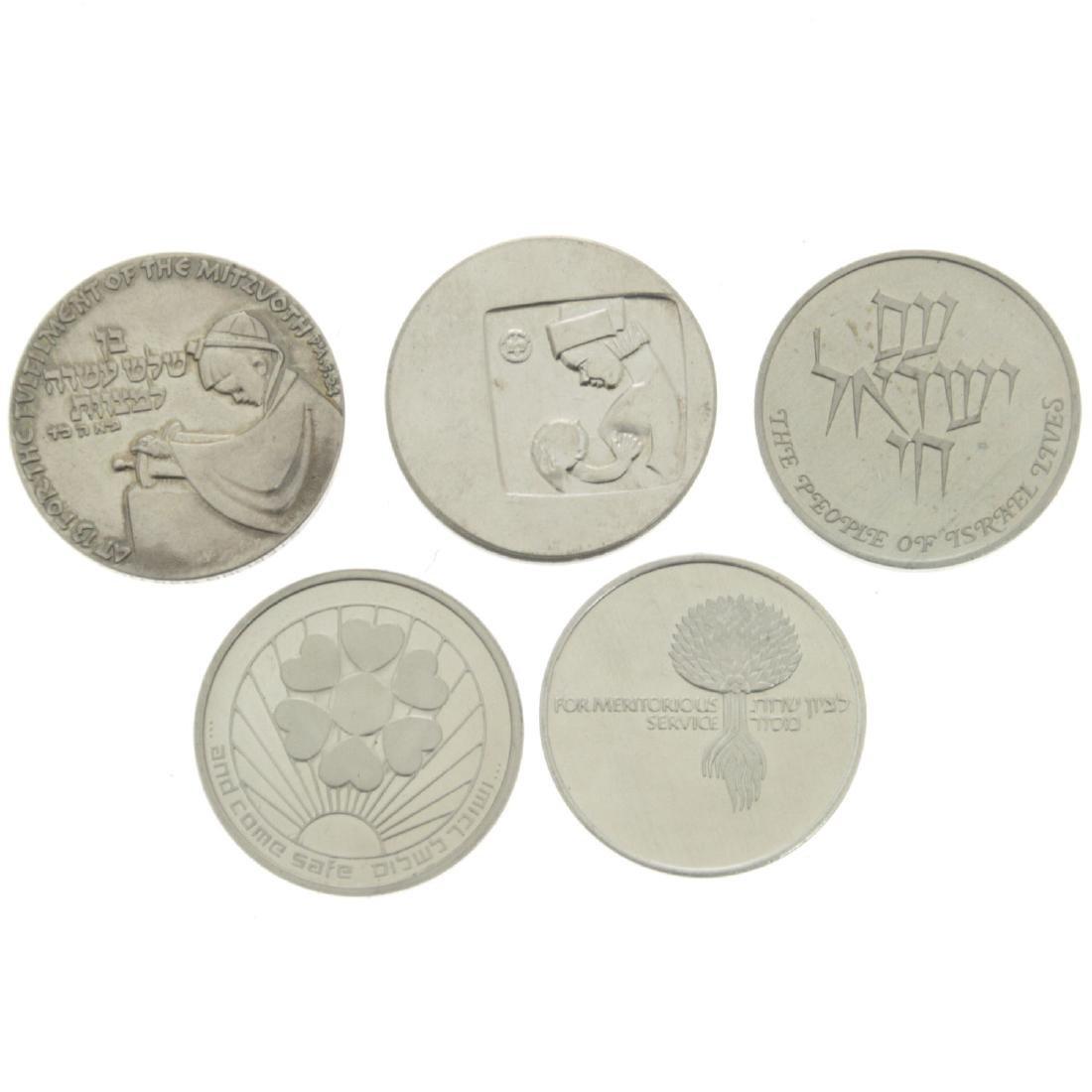 Five Israel Silver Medals. - 2