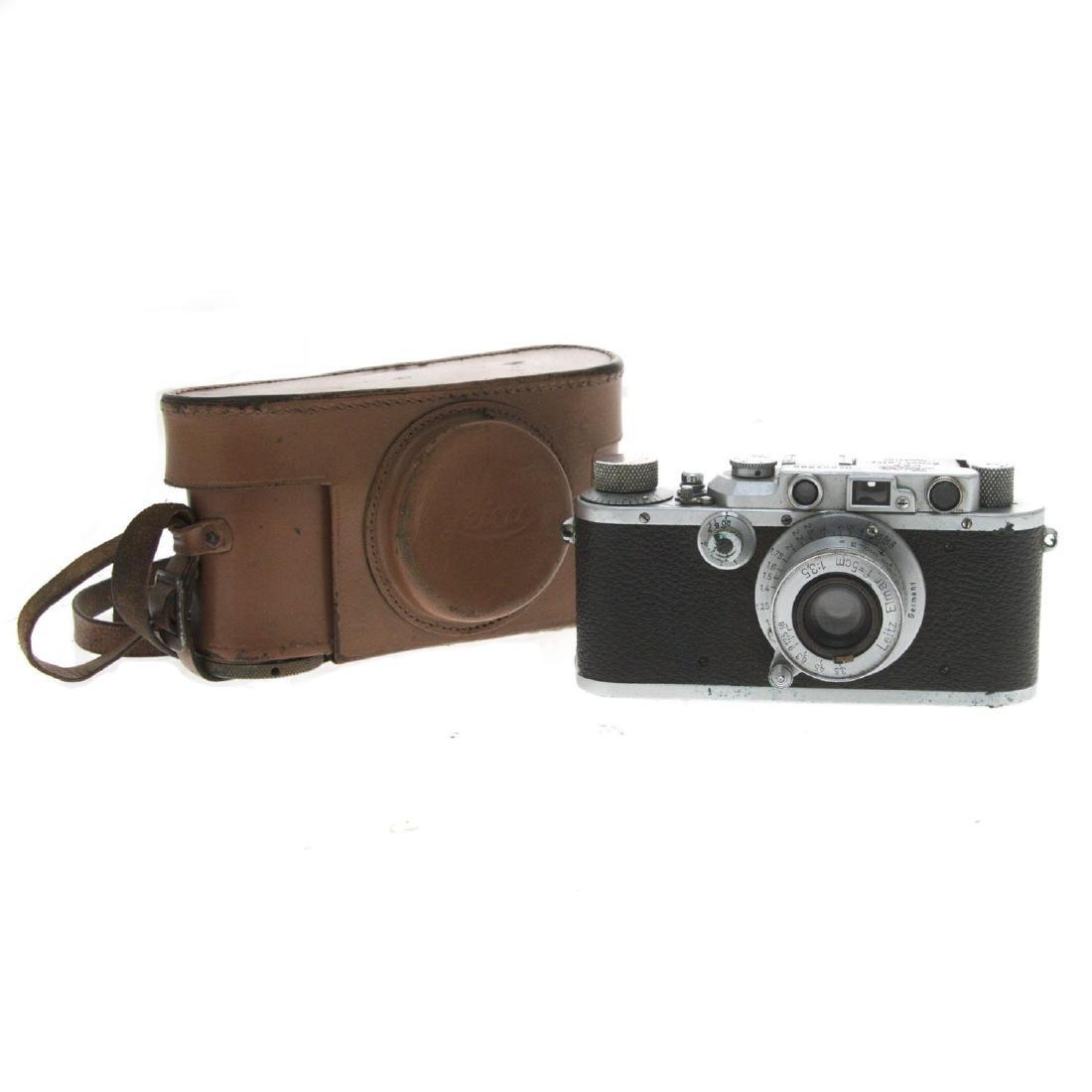 Leica II Ernst Leitz Wetzlar Camera with Elmar Lens.