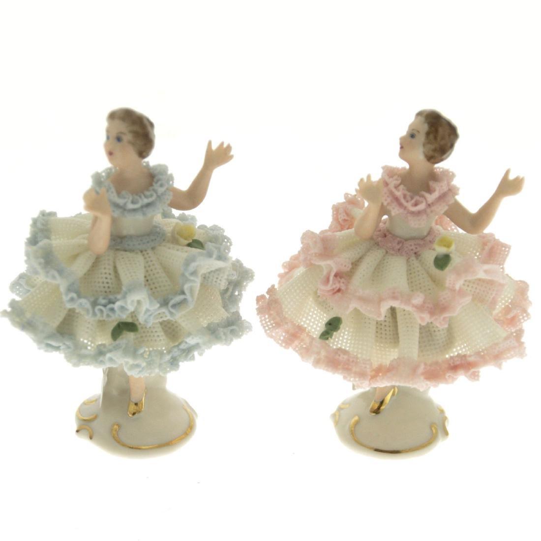 Two Porcelain Dancers Figurines.
