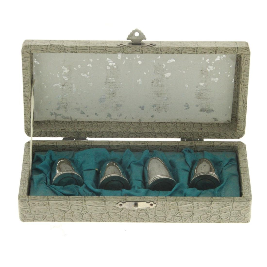 Set of 4 Silver Salt and Pepper Shakers. - 2