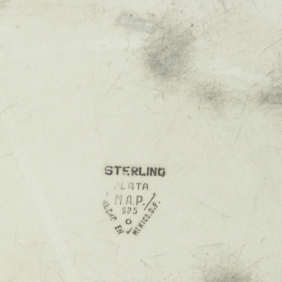 Sterling Silver Butler Ashtray. - 3
