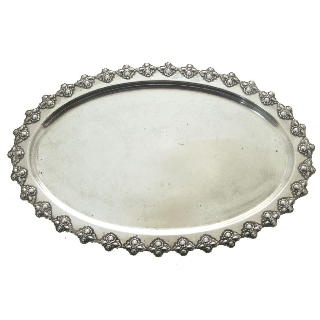 Sterling Silver Oval Serving Tray.