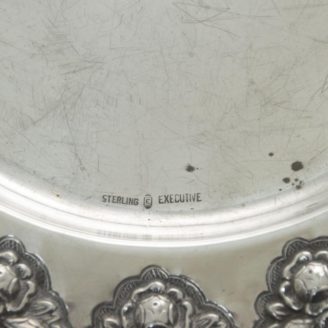 Sterling Silver Oval Serving Tray. - 2