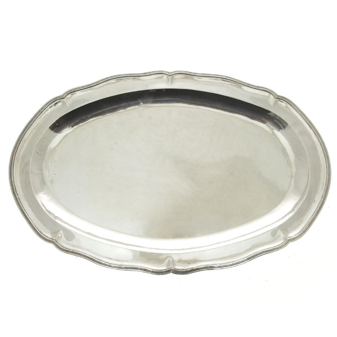 Oval Silver Serving Tray.