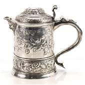 Rare Queen Anne Britannia Standard Silver Tankard,