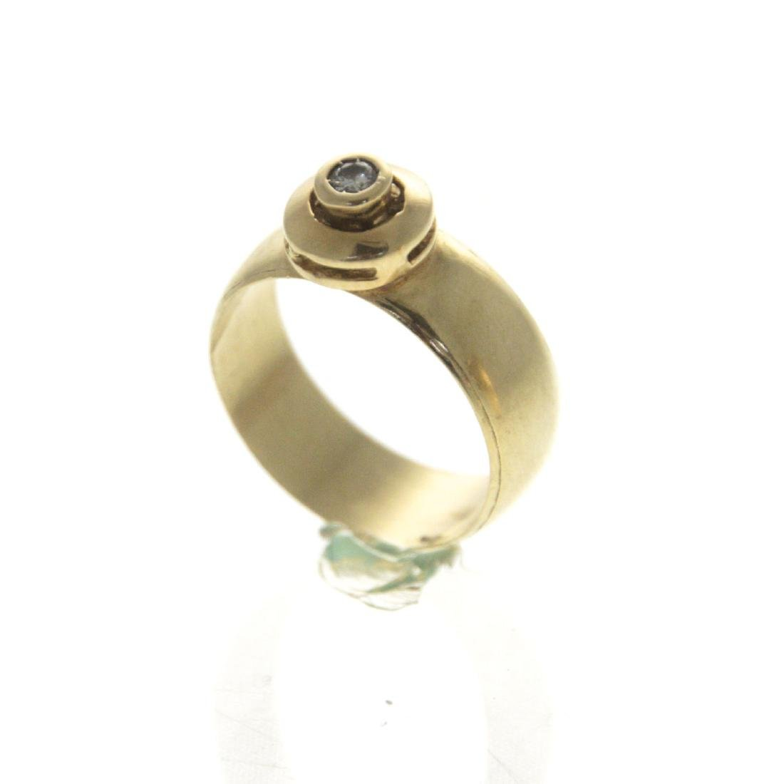 14k Yellow Gold Diamond Ring. - 2
