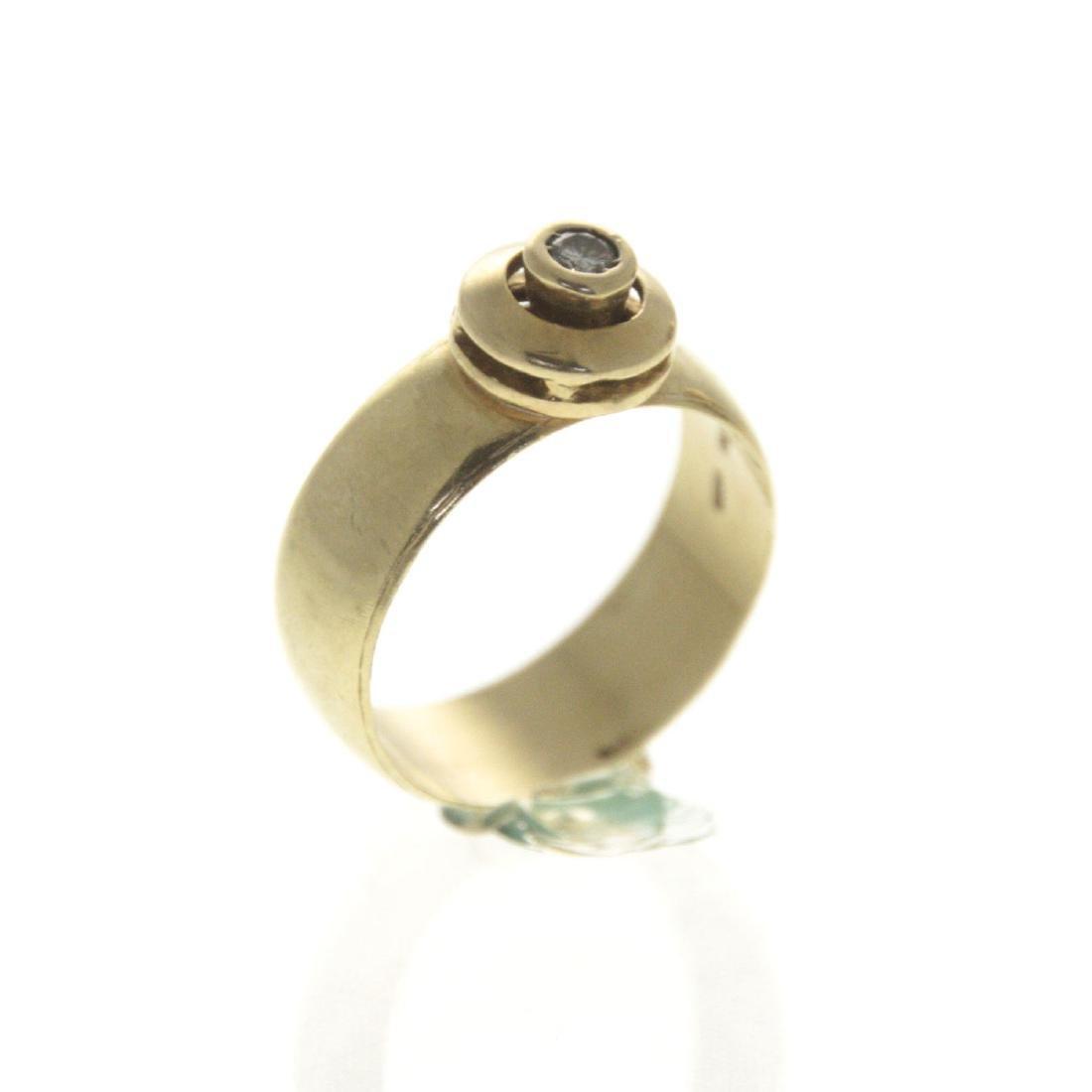 14k Yellow Gold Diamond Ring. - 3
