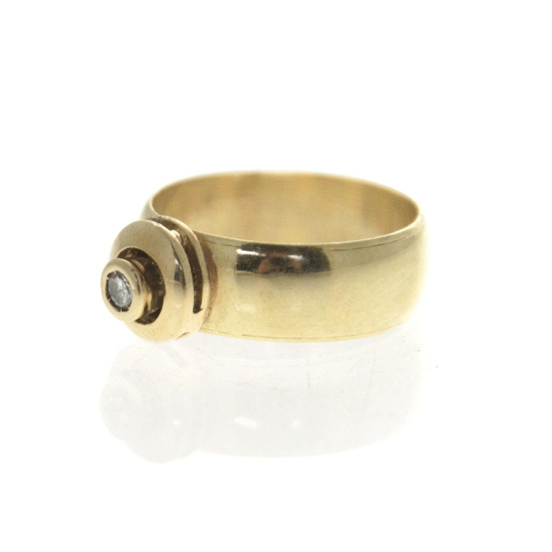 14k Yellow Gold Diamond Ring. - 5