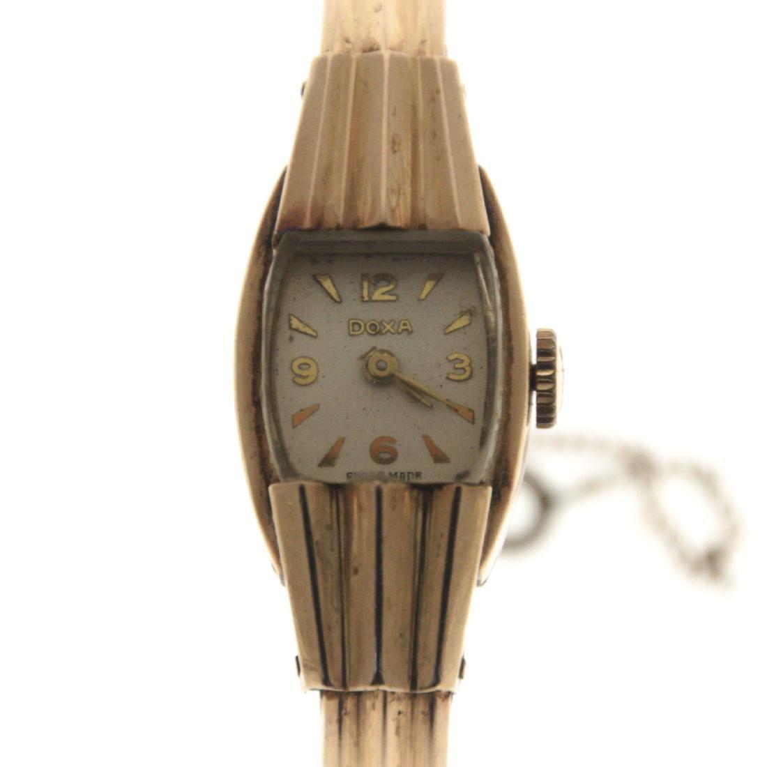 Doxa 14k Gold Lady's Wrist Watch. - 2