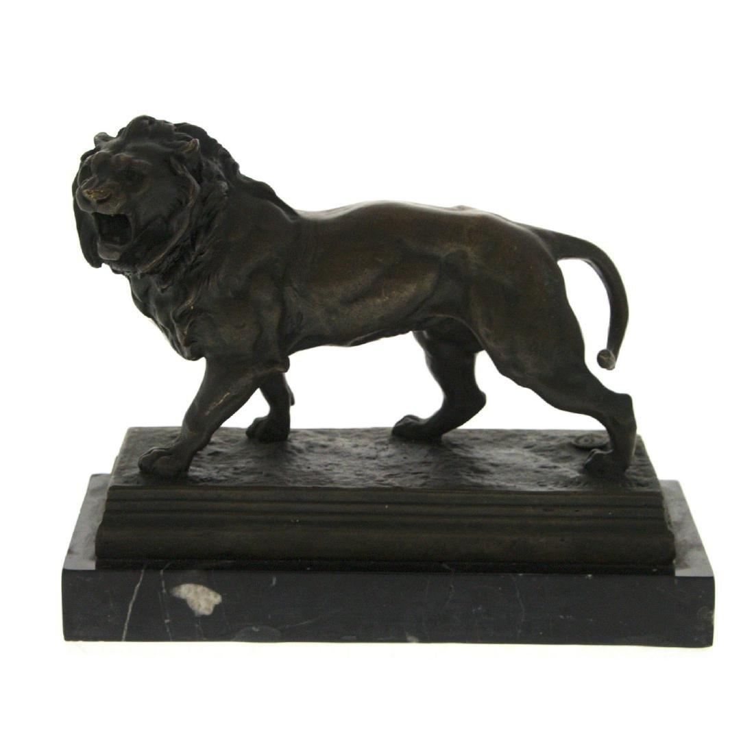 Lion Bronze Sculpture after Charles Valton.