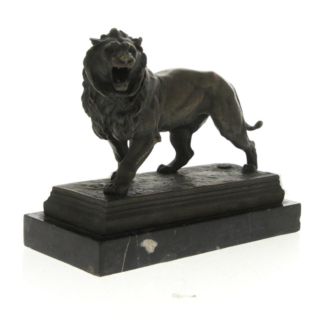 Lion Bronze Sculpture after Charles Valton. - 2