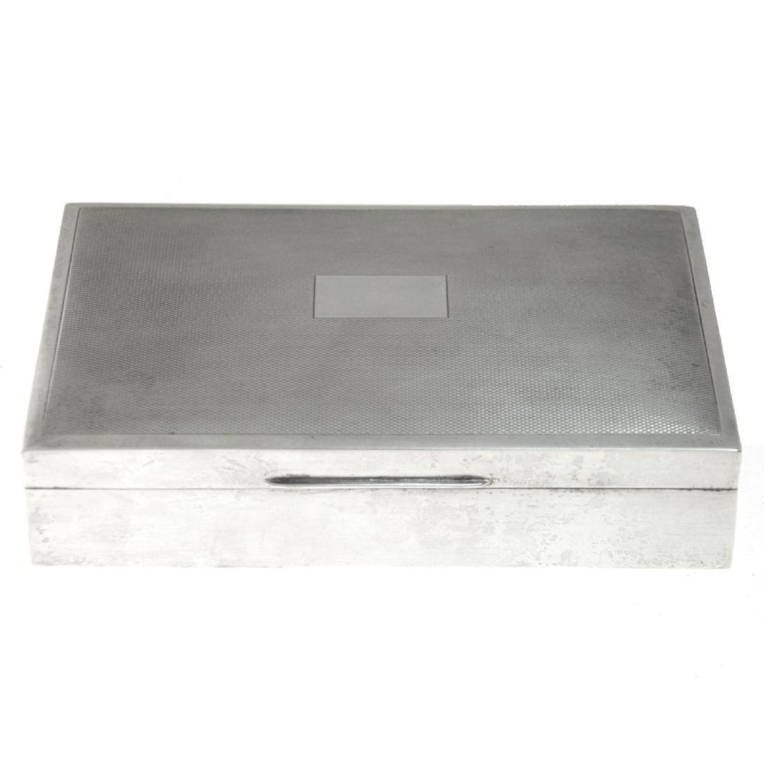 Sterling Silver Cigar Cigarette Case, Harman Brothers,