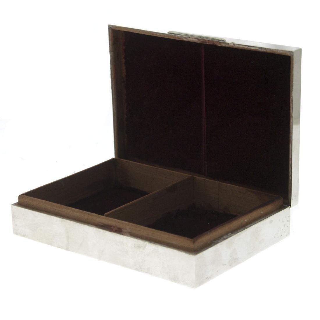 Sterling Silver Cigar Cigarette Case, Harman Brothers, - 2