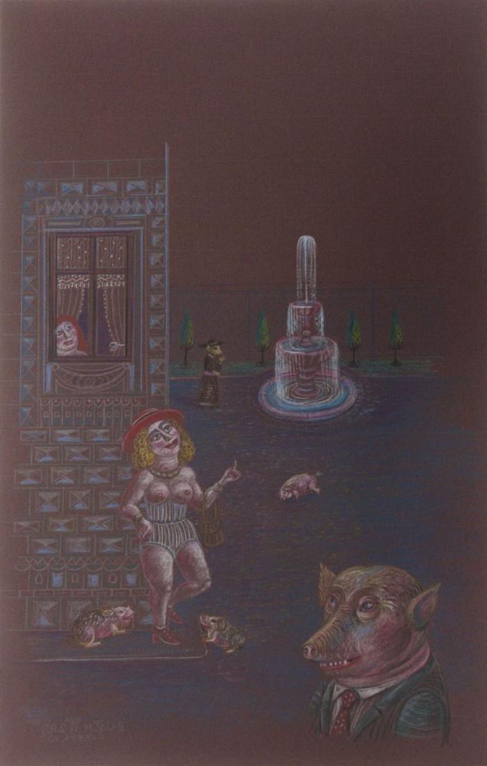 Tamas Galambos (Hungarian, b.1939) - Pastel on Paper,