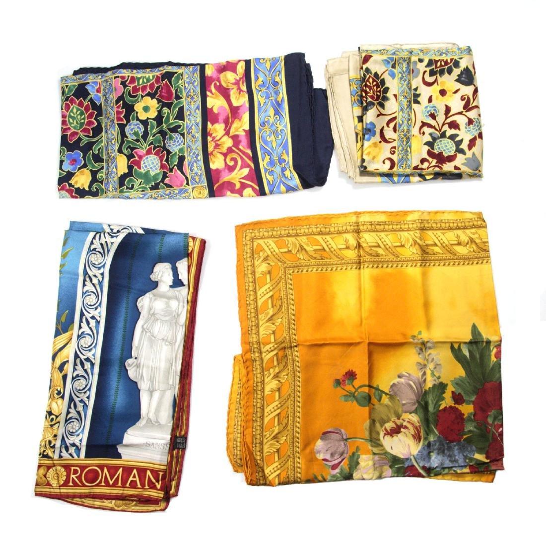 Four Silk Scarves - Givenchy, Gianfranco Ferre, Joop!