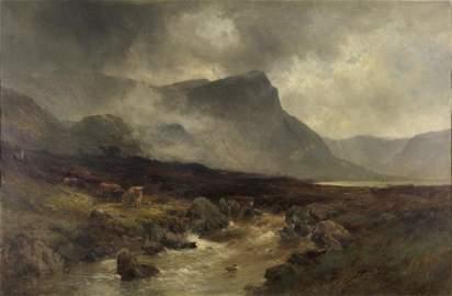 Alfred I De Breanski (1852-1928) - Loch Ness, Oil on