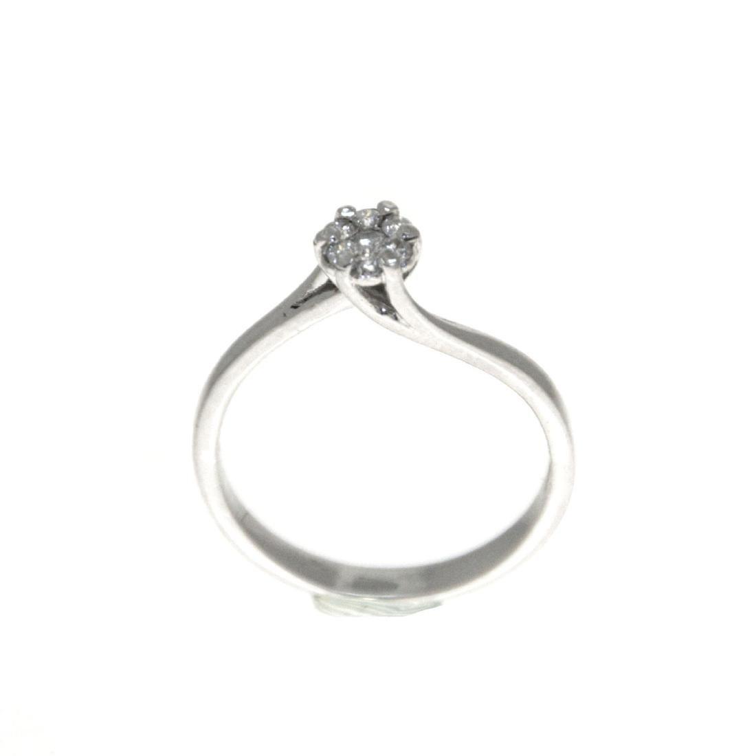 14k White Gold Diamond Ring.