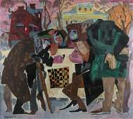 Naum Zeitlin (Russia, 1909-1997) - Chess in the Winter,