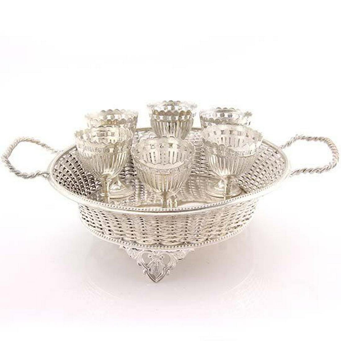 Victorian Silver Plated Egg Cruet Set