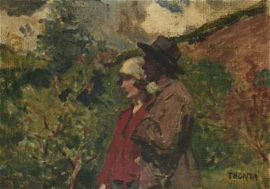 Janos Thorma (Hungarian, 1870-1937) - Couple, Oil on