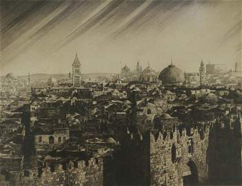 Ephraim Moshe Lilien (1874-1925) - Jerusalem