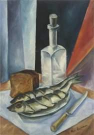 Nathan Altman Attributed (1889-1970) - Still Life, Oil