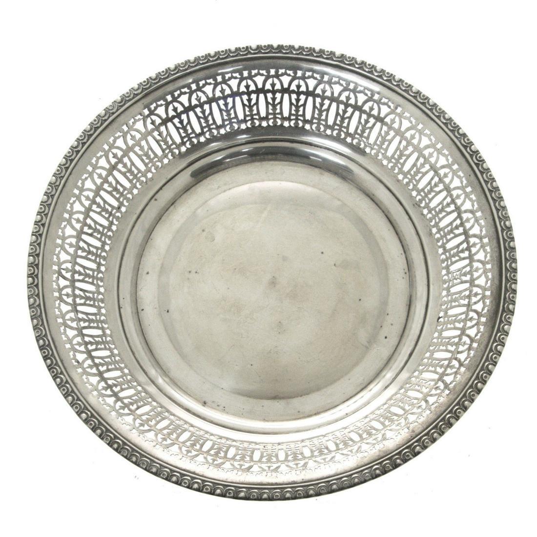 Large Sterling Silver Bowl Basket, Gebruder