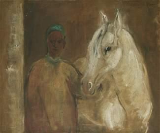 Hassan El Glaoui (Moroccan, 1924-2018) - Horse and Man,