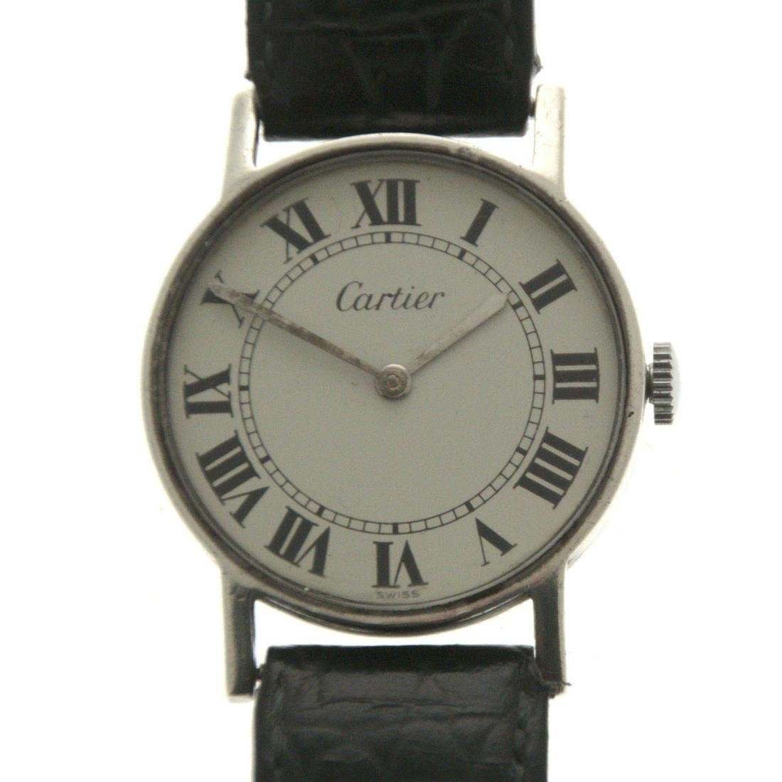 Cartier Sterling Silver Wrist Watch.