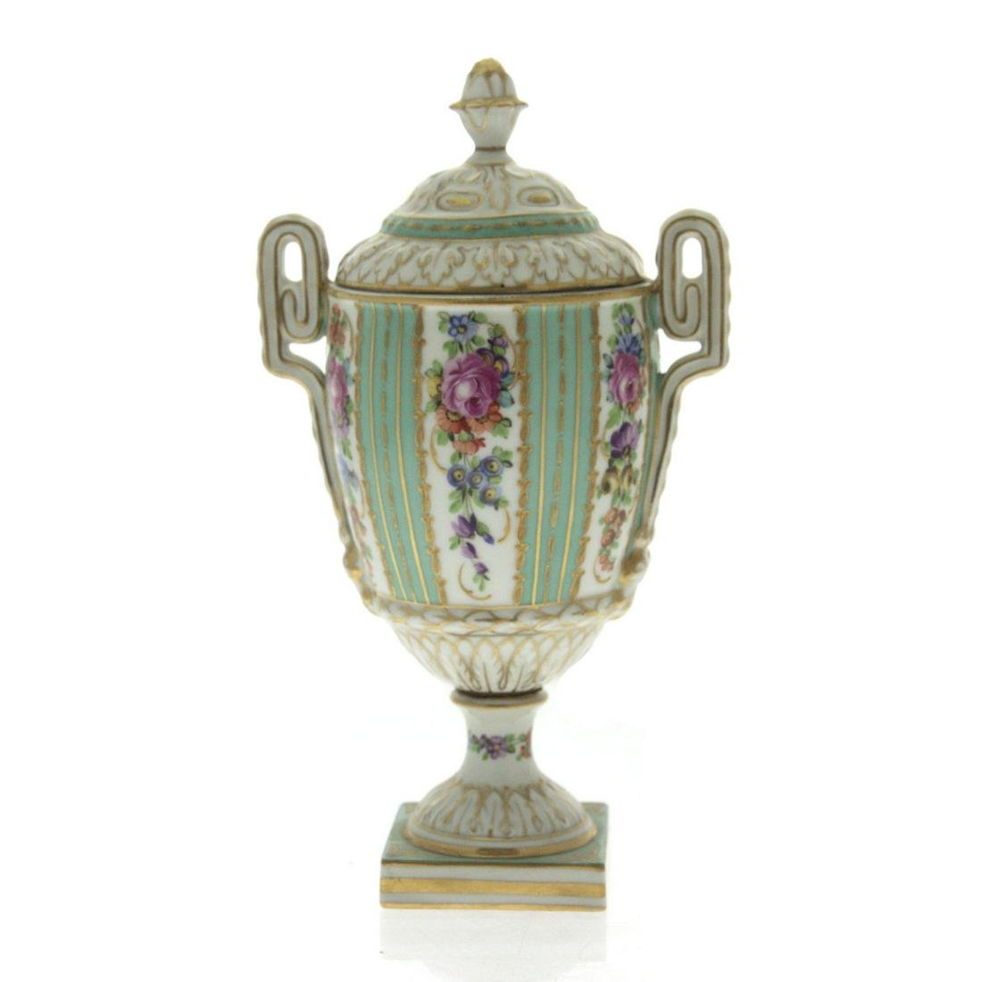 Dresden Porcelain Urn and Cover.