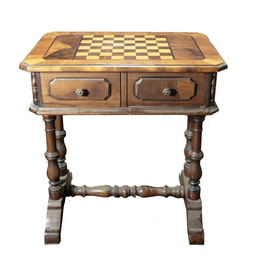 Chess and Checkers Table.