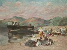Witman Etelka Vizkeleti (Hungarian, 1882-1962) - Dock,