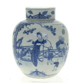 Chinese Porcelain Ginger Jar and Cover.