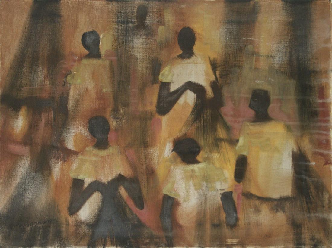 Paco Gorospe (Filipino, 1939-2002) Figures, Oil on