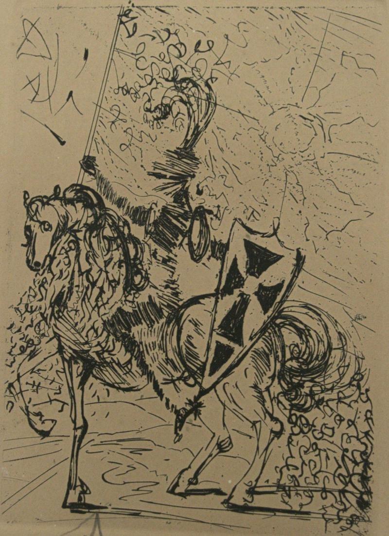 Salvador Dali (1904-1989) - El Cid, Signed Etching.