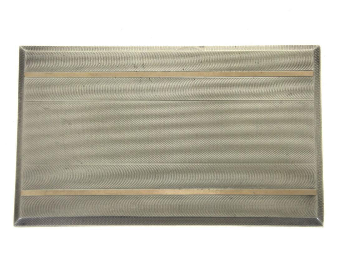 Sterling Silver Art Deco Slide Action Cigarette Case,