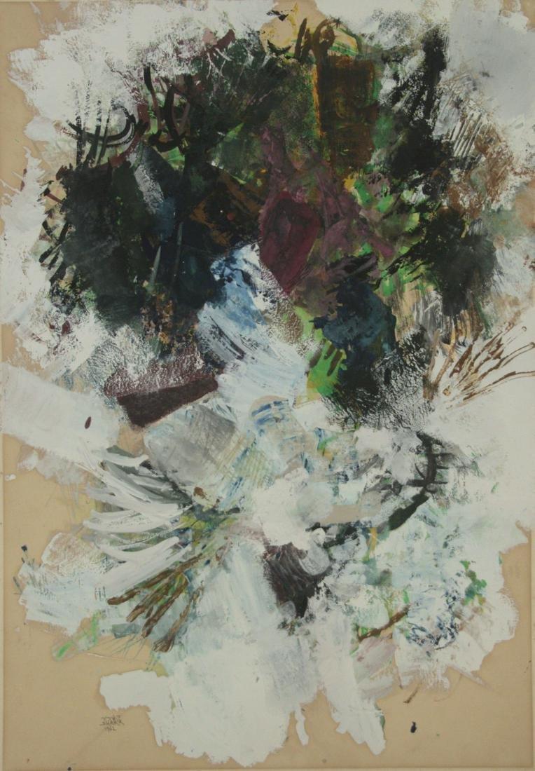 David Sharir (b.1938) - Abstract, Gouache on Paper,