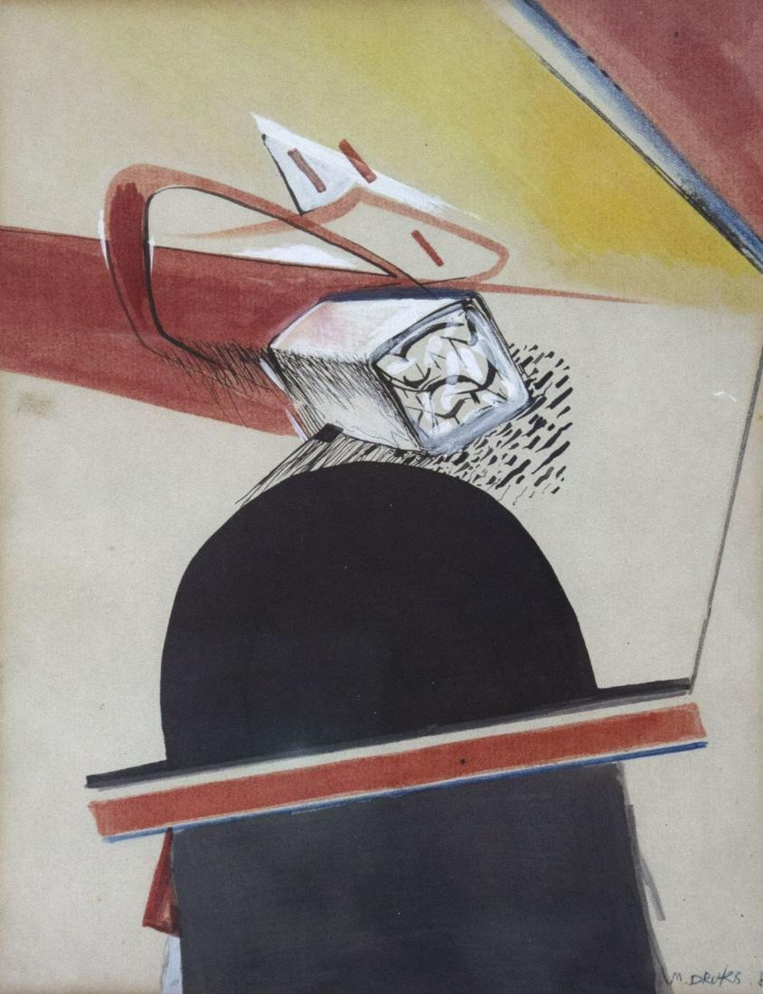 Michael Druks (b.1940) - Untitled, Mixed Media on