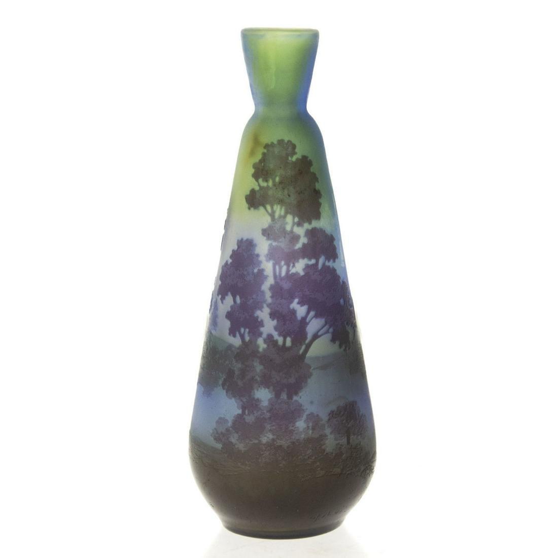 Galle Cameo Glass Vase, France, Circa 1900.