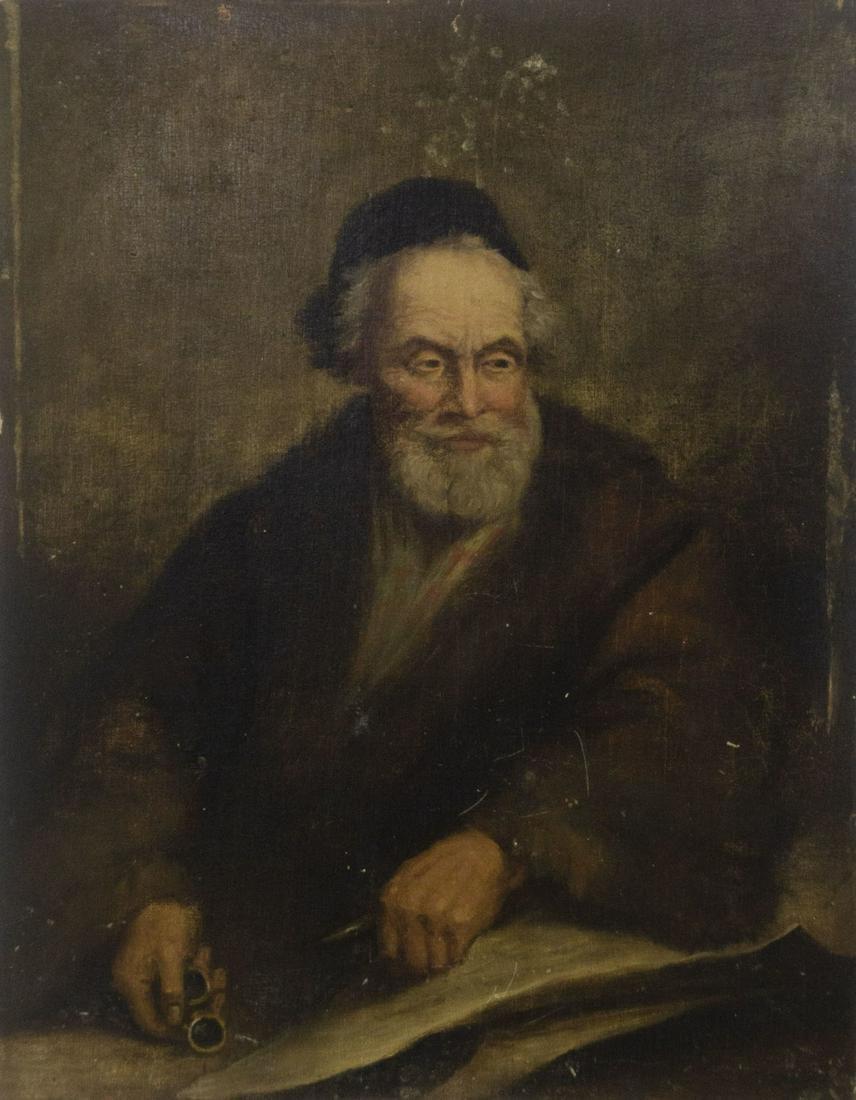 Unidentified Artist - Portrait, Oil on Board, Antique