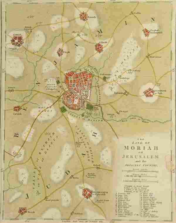 Jerusalem Map, 1798.