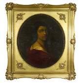 Unidentified Artist - Portrait of a Woman, Oil on