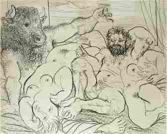 Pablo Picasso (Spanish, 1881-1973) - Scene Bacchique Au