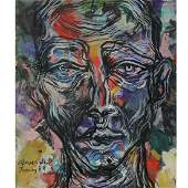 David Breuer-Weil (British, b.1965) - Portrait, Oil on