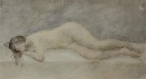 Vladimir Weisberg (Russia, 1924-1985) - Reclining Nude,