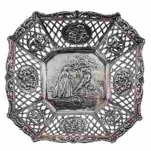 Silver Bowl, Adolf Mayer, Frankfurt, Germany, Late 19th